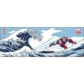 日本たおる 手ぬぐい アイアンマン 波に富士 マーベル エンスカイ 日本製 メール便可