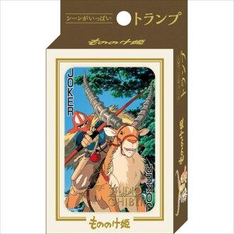 場景大量的撲克牌TRUMP CARD mononoke公主吉卜力工作室ENSKY玩具紙牌遊戲郵購