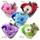 シャボンフラワーソープフラワーアレンジフラワーPOTハートポピー14×11×12cmお花の贈り物ギフト雑貨通販
