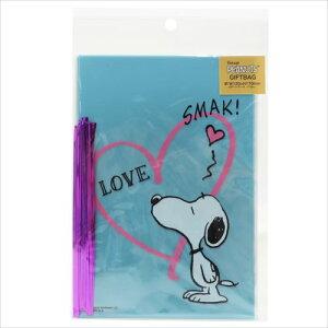 ギフト袋&ワイヤータイL 10セット ラッピング用品 スヌーピー SMAK ピーナッツ S&Cコーポレーション プレゼント包装 メール便可