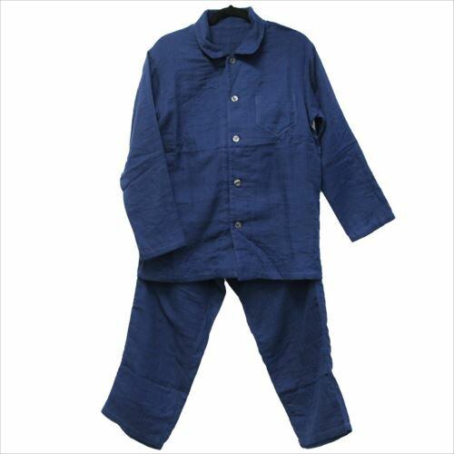 【送料無料】マシュマロガーゼパジャマ パジャマ メンズ 紳士用 ダークブルー UCHINOプレミアム ギフト雑貨 リラックス ホームウェア通販 【取寄品】