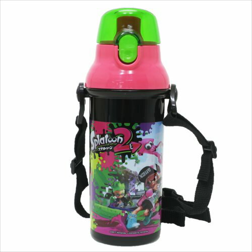 直飲みプラワンタッチ ボトル 水筒 スプラトゥーン2nintendo スケーター 480ml 日本製 通販【最大400円OFFクーポン】