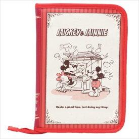 片面ジャバラマルチケース 母子手帳ケース ミッキー&ミニー ブック型 ディズニー ママ 雑貨 メール便可
