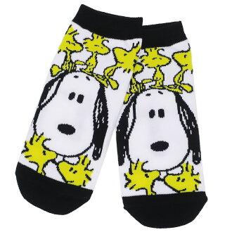 供女子的短襪女性使用的襪子史努比木材存貨nokkari花生小行星22-24cm時裝雜貨郵購