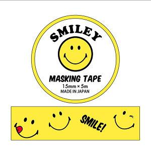 15mm マステ マスキングテープ スマイリーフェイス TS-28 Smiley Face アクティブコーポレーション DECOテープ メール便可 ベルコモン