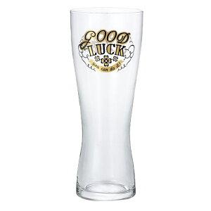 ビアグラスL ガラスコップ メッセージグラス Good luck アデリア 415ml ギフト プレゼント 石塚硝子食器 取寄品 ベルコモン 結婚祝い 引越し祝い/新築祝い/開業祝い のし利用可