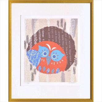 从額装品艺术架子米澤彩穴有猫头鹰美工公司37*44cm礼物300张限定额头的室内装饰杂货邮购铃一般