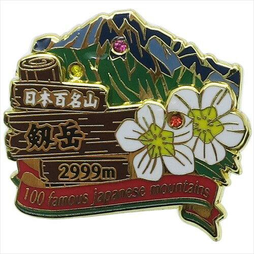 2段ピンズ ピンバッジ 日本百名山 剱岳 エイコー コレクションケース入り トレッキング 登山通販 【メール便可】