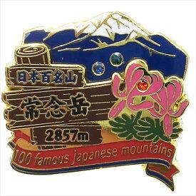 2段ピンズ ピンバッジ 日本百名山 常念岳 エイコー コレクションケース入り トレッキング 登山 メール便可