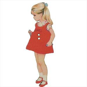 フランス製木製飾りボタン 手芸用品 アトリエボヌールドゥジュール ブロンドの女の子 ハートアートコレクション ハンドクラフト おしゃれ 手作り 雑貨 メール便可 ベルコモン