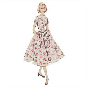 フランス製木製飾りボタン 手芸用品 アトリエボヌールドゥジュール 花柄ドレスの女性 ハートアートコレクション ハンドクラフト おしゃれ 手作り 雑貨 メール便可 ベルコモン
