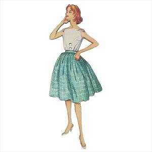 フランス製木製飾りボタン 手芸用品 アトリエボヌールドゥジュール 緑のスカートの女性 ハートアートコレクション ハンドクラフト おしゃれ 手作り 雑貨 メール便可 ベルコモン