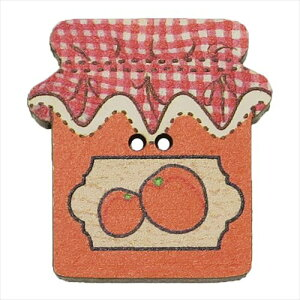 フランス製木製飾りボタン 手芸用品 アトリエボヌールドゥジュール オレンジジャム ハートアートコレクション ハンドクラフト おしゃれ 手作り 雑貨 メール便可 ベルコモン