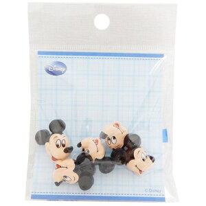 飾りミニボタン5個セット 手芸用品 ミッキーマウス フェイス横 ディズニー パイオニア ハンドクラフト かわいい メール便可