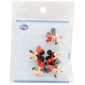 飾りミニボタン5個セット 手芸用品 ミニーマウス フェイス横 ディズニー パイオニア ハンドクラフト かわいい メール便可