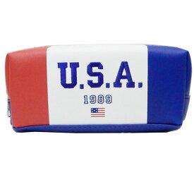 BOXペンケース ペンポーチ ロゴ USA カミオジャパン 新学期準備雑貨 筆箱 おしゃれ通販