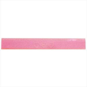 スリム15cm直定規 ものさし PINK PINK GENIC HEART カミオジャパン 新学期 雑貨 文具 オルチャンスタイル メール便可