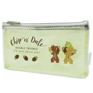 クリア フラット ペンポーチ ペンケース チップ&デール バックスタイル ディズニー マリモクラフト サマーシリーズ 筆箱 メール便可