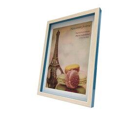 Macaron frame マカロン フレーム フォトフレーム Blue A4(B5サイズマット付) 美工社 23.3×32×2.5cm マット付き ギフト 装飾インテリア通販 【取寄品】【プレゼント】ベルコモン