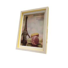 Macaron frame マカロン フレーム フォトフレーム Yellow A4(B5サイズマット付) 美工社 23.3×32×2.5cm マット付き ギフト 装飾インテリア通販 【取寄品】【プレゼント】ベルコモン