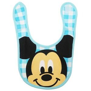 ベビー ビブ キャラ スタイ ミッキーマウス アップチェック ディズニー スモールプラネット 赤ちゃん用品 よだれかけ メール便可