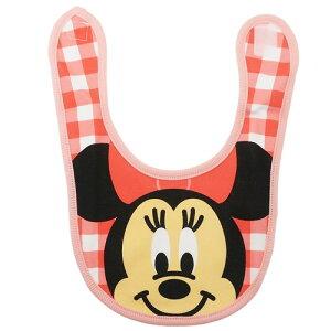 ベビー ビブ キャラ スタイ ミニーマウス アップチェック ディズニー スモールプラネット 赤ちゃん用品 よだれかけ メール便可