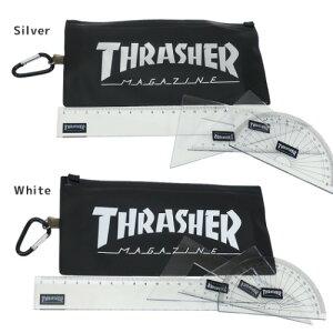 ケース入り 定規 セット ものさし THRASHER スラッシャー Vol3 サカモト 三角定規 2ヶ 直定規 分度器 スケートボーダー スポーツブランド メール便可