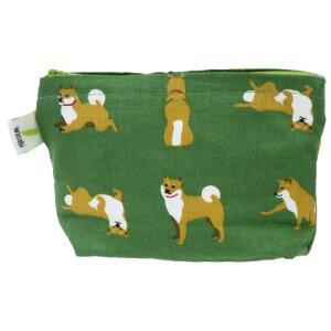 ポケットティッシュポーチ 柴田さんの住む東京わさび町 ミニポーチ しばたさん グリーン 柴犬 FRIENDSHILL サニタリーポーチ ギフト 雑貨 メール便可