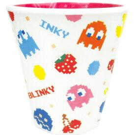 Wプリント メラミンカップ チラシ パックマン プラコップ ナムコ ティーズファクトリー キッズ食器 新生活 準備