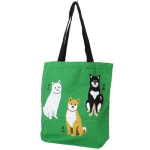 A4 カジュアル トート 柴田さんの住む東京わさび町 トートバッグ しばいぬトリオ 柴犬 FRIENDSHILL 手提げかばん プレゼント