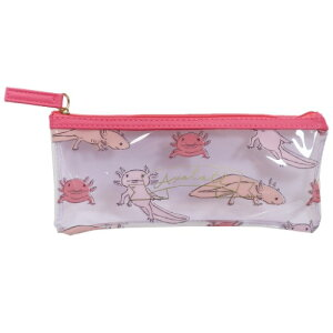 筆箱 Animal Series クリア ペンケース ウーパールーパー アニマル グリーンフラッシュ ペンポーチ プレゼント シンプルイラスト メール便可