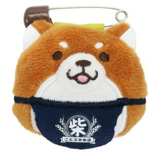 マスコット ぬいぐるみバッジ 忠犬もちしば おかか 柴犬 エスケイジャパン かわいい プレゼント メール便可