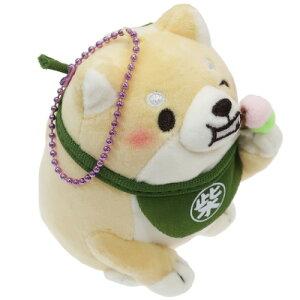 マスコット ミニ ぬいぐるみ ボールチェーン 忠犬もちしば きなこ だんご 柴犬 エスケイジャパン キーホルダー プレゼント