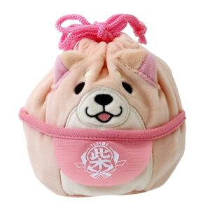 のびる ぬいぐるみ きんちゃく S 巾着袋 忠犬もちしば さくら 柴犬 エスケイジャパン 小物入れ プレゼント 通販