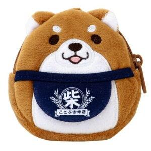ゴムベルト付き ぬいぐるみ おとも ポーチ ミニポーチ 忠犬もちしば おかか 柴犬 エスケイジャパン かわいい プレゼント 通販 メール便可
