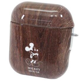 エアーポッズケース AirPodsケース ミッキーマウス ウッド ディズニー グルマンディーズ クリップ&ストラップ 2way仕様 プレゼント 通販