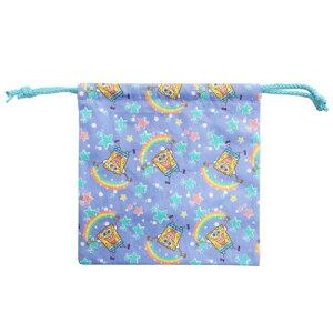 きんちゃくポーチ 巾着袋 スポンジボブ 星と虹 スモールプラネット 新 入学 新学期 雑貨 通販 メール便可