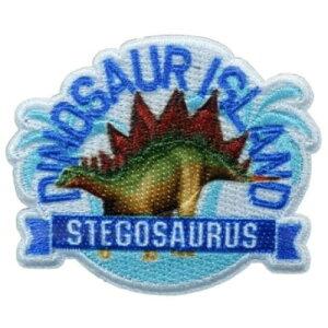 アイロンパッチ 学研の図鑑ライブ ワッペン ステゴサウルス 恐竜 パイオニア 手芸用品 シール両用 通販 メール便可