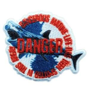 アイロンパッチ 学研の図鑑ライブ ワッペン サメ パイオニア 手芸用品 シール両用 通販 メール便可