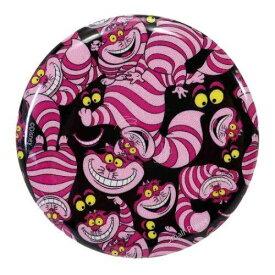ビッグ カンバッジ 缶バッジ おしゃれキャット チシャ猫総柄 ディズニー スモールプラネット 直径4.3cm コレクション 雑貨 通販 メール便可