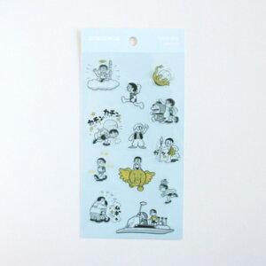 クリアシール シールシート ドラえもん 50周年記念 ブルー グリーンフラッシュ 手帳デコ プチギフト アニメ通販 メール便可