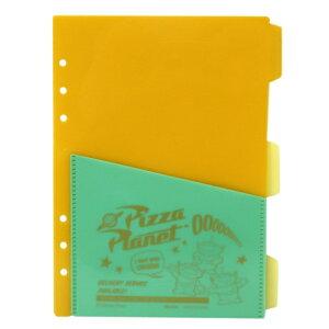 A5 6穴 ファイルブック用 バイカラー ファイル 3枚セット システム手帳 リフィル トイストーリー4ディズニー デルフィーノ リフィル交換可 通販 メール便可