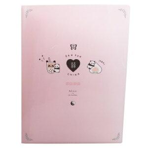 cha cha china 10ポケット A4 クリアファイル ポケットファイル PAN PAN CHINA クラックス 新学期 雑貨 文具 かわいい通販
