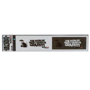 ビッグ シール ミシン目カット 2pcs ステッカー バンクシー Umbrella Rat Banksy ゼネラルステッカー 耐水耐光仕様 ART オフィシャル通販 メール便可