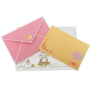 スライドジッパーケース入り 手紙セット レターセット ムーミン オレンジ 北欧 APJ 便箋&封筒&ケース 贈り物 通販 メール便可