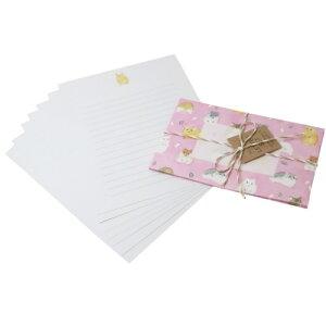 BROOCHIR 手紙セット レターセット ハムスター グリーンフラッシュ 便箋&封筒 おしゃれ文具 メール便可