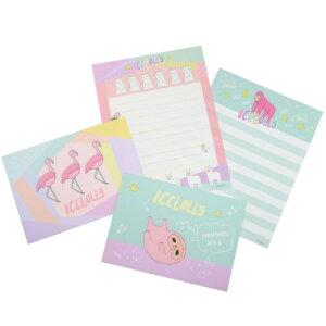 手紙セット アイスローリー レターセット 動物 ICELOLLY サンスター文具 便箋&封筒 メール便可
