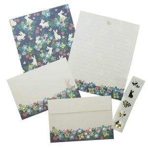 手紙セット レターセット Tomoko Hayashi うさぎといちご クローズピン 便箋&封筒&シール ガーリーイラスト メール便可