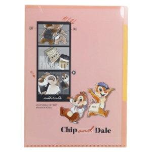 ポケットファイル 5インデックス A4 クリアファイル チップ&デール 2021SS ディズニー クラックス 新学期準備文具
