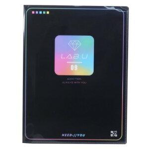 10ポケット A4 クリアファイル NIJI COLOR ポケットファイル LAB U カミオジャパン 新学期準備文具 ガーリーステショ